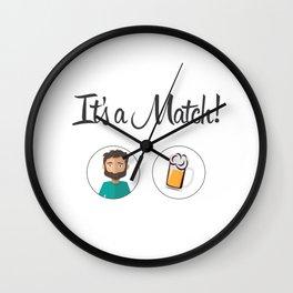 Its a match! Love beer ? Wall Clock