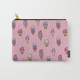 Kawaii Ice Cream Pattern Carry-All Pouch