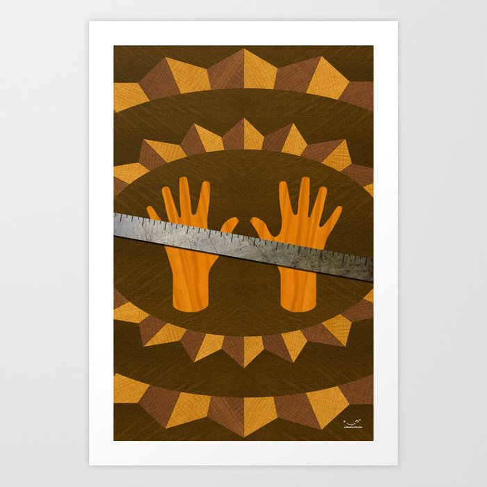 The Intelligence Rule - (ASL Marquetry Series) Art Print
