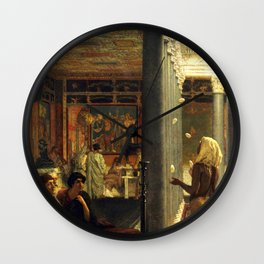 "Sir Lawrence Alma-Tadema ""A juggler"" Wall Clock"