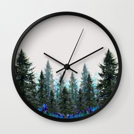 MOUNTAIN FOREST PINES LANDSCAPE  ART Wall Clock