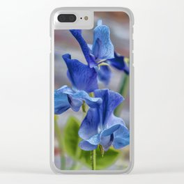 Sweet Pea Flower Clear iPhone Case
