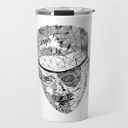 James Joyce - Hand-drawn Geometric Art Print Travel Mug