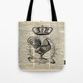 western country french chicken kitchen art farmhouse rooster Tote Bag