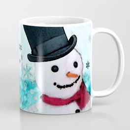 Snowman Christmas Art - Frosty - Holiday Artwork by Sharon Cummings Coffee Mug