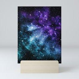 Purple Teal Galaxy Nebula Dream #1 #decor #art #society6 Mini Art Print