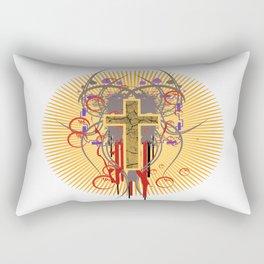 The Cross at Sunrise Rectangular Pillow