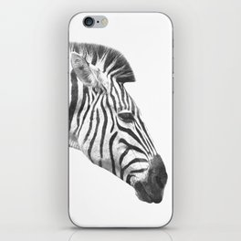 Black and White Zebra Profile iPhone Skin