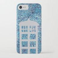 tardis iPhone & iPod Cases featuring Tardis by Sahara Novotny