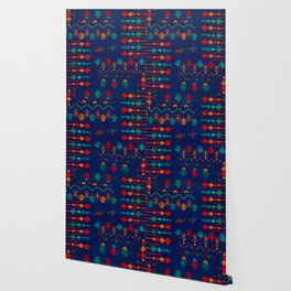 -A17- Anthropologie Moroccan Blue Artwork. Wallpaper