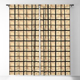 WINDOWPANE PATTERN Blackout Curtain