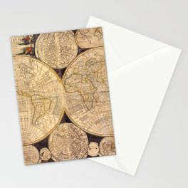 World Map 1798 Stationery Cards