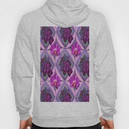 Pink-Purple Orchids Pattern ArtDeco Design Hoody
