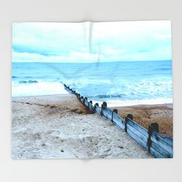 Outlook over the North Sea Throw Blanket