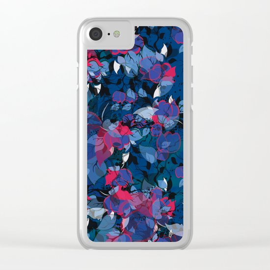 Abstract Floral Clear iPhone Case