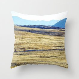 Winter Run Throw Pillow