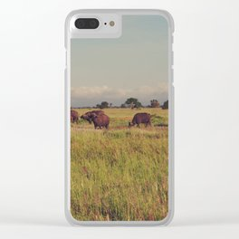 Vintage Africa 13 Clear iPhone Case