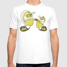 Pea Brain Patty and Bird Brain Bimmy SMALL White Mens Fitted Tee