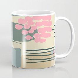 Tropical Painting in Earthtones: Muted Greens & Aqua Coffee Mug