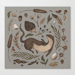 Weasel and Hedgehog Canvas Print
