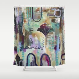 """Surrender Grow"" Original Painting by Flora Bowley Shower Curtain"