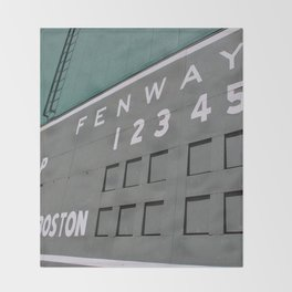 Fenwall -- Boston Fenway Park Wall, Green Monster, Red Sox Throw Blanket