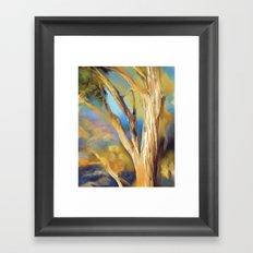 wacom textural study / tree Framed Art Print
