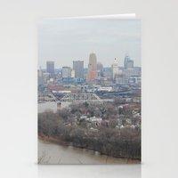 cincinnati Stationery Cards featuring Cincinnati, Ohio by saraaarubyyy