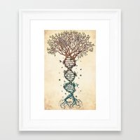 purple Framed Art Prints featuring The Fabric of Life (Alternative) by René Campbell Art
