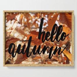 Hello Autumn Serving Tray