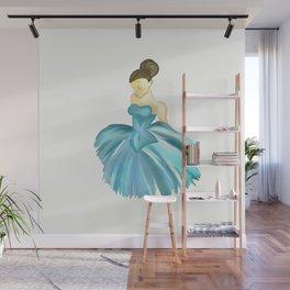 Ballerina Blue Wall Mural