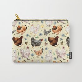 Chickens and Chicory Carry-All Pouch