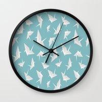 origami Wall Clocks featuring Origami by Albardado