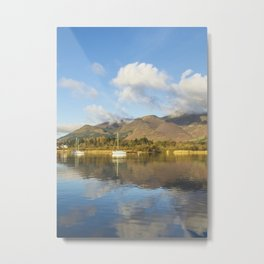 Boats On Derwentwater Metal Print