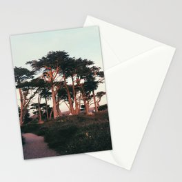 Setting Sun on the Trees Stationery Cards