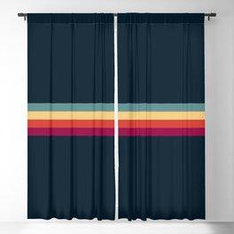 Retro Stripes Thunderbird Blackout Curtain