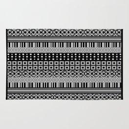 Black and White Shapes Design Rug