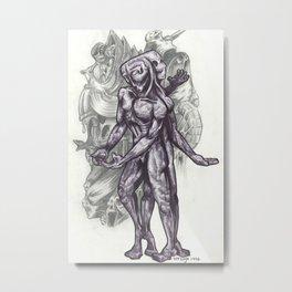 Better Of Two Evils by Versago Metal Print