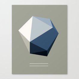 Minimal Geometric Polygon Art Canvas Print