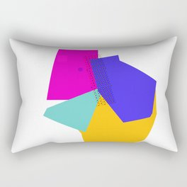 Color block style - geometric Rectangular Pillow