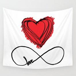 INFINITY LOVE by Dana Bocai Wall Tapestry