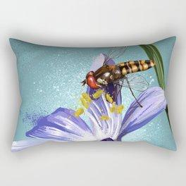 Wasp on flower 11 Rectangular Pillow