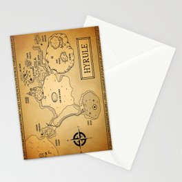 Hyrule Map  OOT Stationery Cards