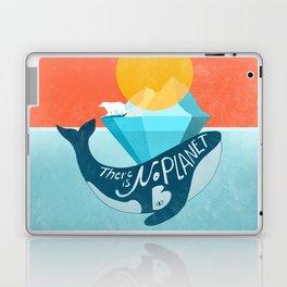 Arctic polar bear whale and nature conservation illustration Laptop & iPad Skin