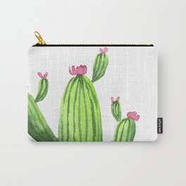 Green Cacti with Pink Flowers Carry-All Pouch