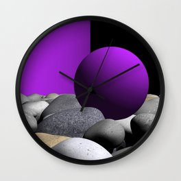 pink or violet -9- Wall Clock