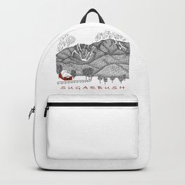 Sugarbush Vermont Serious Fun for Skiers- Zentangle Illustration Backpack