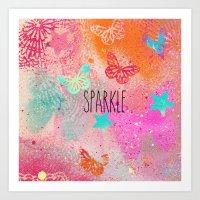 sparkle Art Prints featuring Sparkle by SannArt