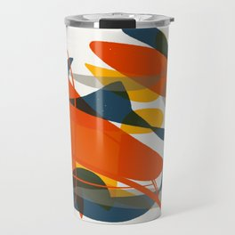 Abstract Bird Travel Mug