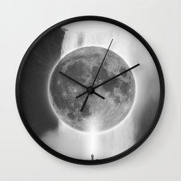 Moon Talks Wall Clock